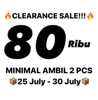 🔥 80 Ribu CLEARANCE SALE : SALE STUSSY CUMA 80 RIBU AJA, MINIMAL AMBIL 2 PCS, LANGSUNG AJA DICHECK!🔥