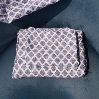 EUC🌿 Flat Sheet & Pillowcase Set (Full)