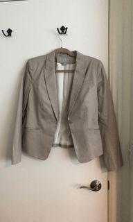 EUC H&M blazer jacket, cream, 8