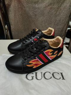Gucci Metallic Flame Shoes