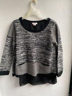 Helmut Lang knitted sweater blouse