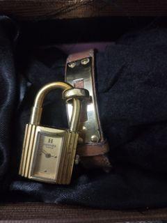 正品Hermes 鎖頭手環凱莉錶