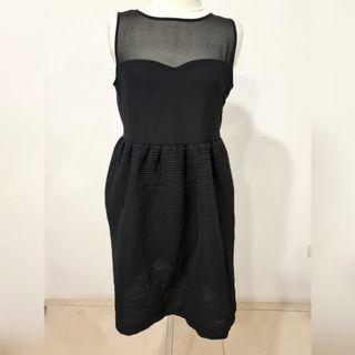 HQ black sheer sleeveless dress