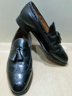 Johnston&Murphy Size 8.5 C Men's Leather Tassel Wingtip Shoes