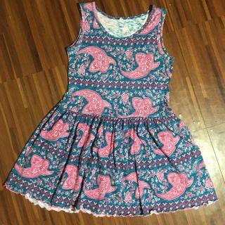 Kids paisley / bandana print sleeveless dress