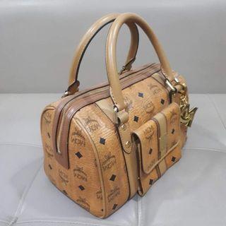 MCM Boston Cognac Handbag