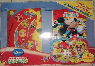 Mickey little look and find book and shaped puzzle