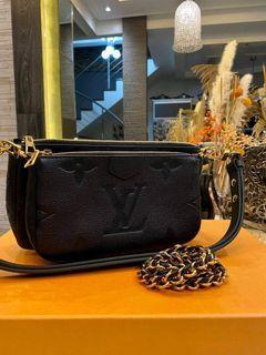 Original Louis Vuitton Multi Pochette Empreinte Black