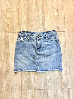 Paper, Denim & Cloth Denim Mini Skirt