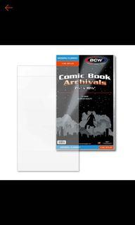 (Php 49 each, 11 pcs. available) BCW modern/current 4 mil mylar bags / comic book archivals
