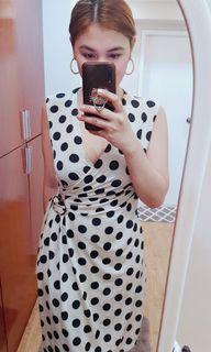 Polka stretchy dress