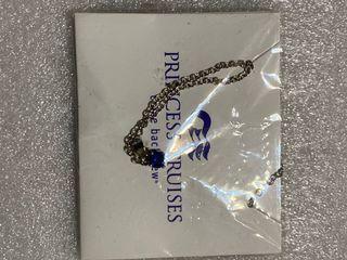 PRINCESS CRUISES 鑽石公主號郵輪項鍊 藍寶石項鍊 寶石項鍊