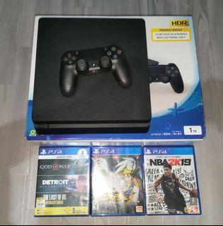 Ps4 slim 1tb with games