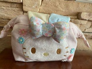 Sanrio Hello Kitty Patchwork Floral Bunny Zipped Pouch