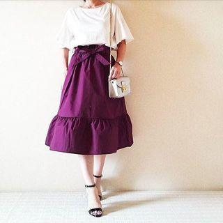 UNIQLO belted skirt