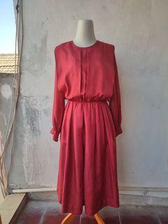 Vintage Satin Tunik/Midi Dress