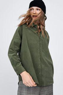 Zara corduroy oversized top