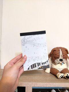 鋼琴音符 筆記本 便條紙