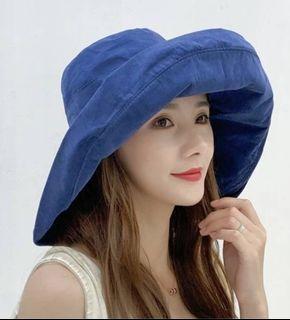 【鬼夢網生活館】韓國小姐純棉大帽沿漁夫帽 A60