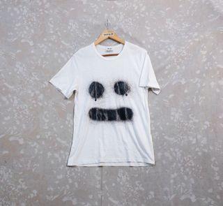 Acne Studios Eddy Symbol Graffiti Face Tee Shirt