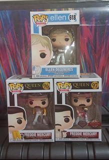 Ellen Degeneres & Freddie Mercury Queen Funko Pop Bundle