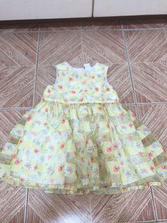 H&M yellow flower formal dress