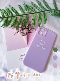 iphone 12 pro 粉紫nice day (軟)手機殼