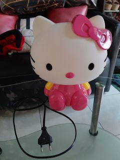 Lampu Tidur Hellokitty Lamp Pink Putih Pajangan