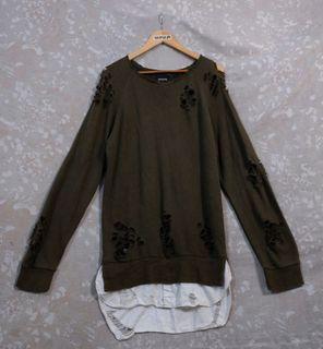Mihara Yasuhiro Destroyed Layered Sweater