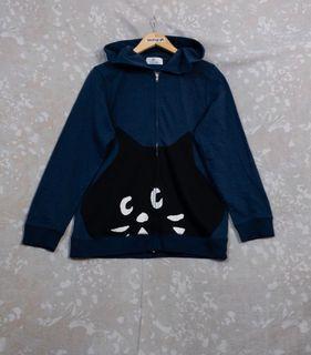 Ne-net Nya Cat Vintage Galaxy Logo Hoodie