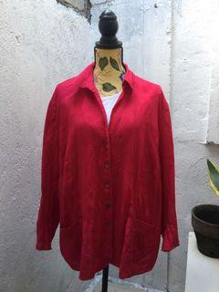 PLUS SIZE XXL PINK COLLARED LONGSLEEVES