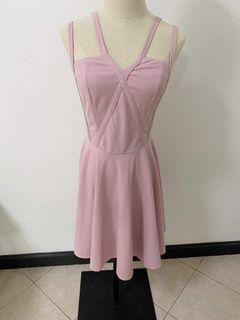 Strappy pink dress