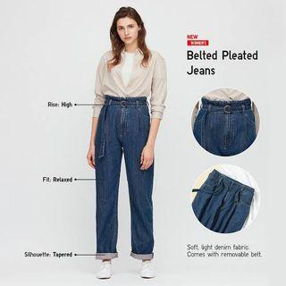 UNIQLO belted jeans