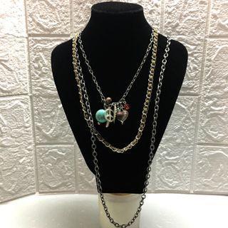 US Multi Strand Chain Necklace