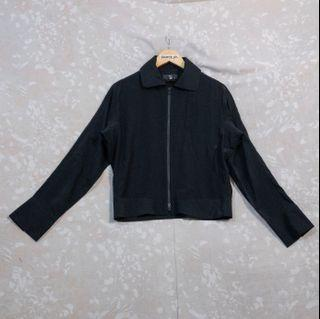 Y's Yohji Yamamoto Trucker Jacket in Rayon-Silk Blend