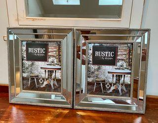 2 stunning mirrored picture frames