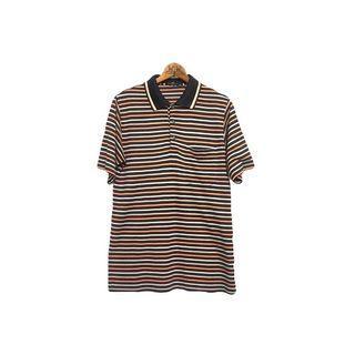·新裝裏百貨行· 00s 橘色橫條紋polo衫