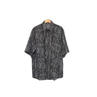 ·新裝裏百貨行· 90s 再製黑白線條印花襯衫