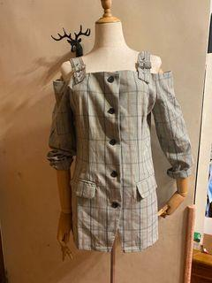 露肩襯衫式 外套 (多種搭法)