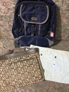 Authentic All Japan Backpack, Belt Bag And Pouch Bag Set Of 3 For The Price Of One