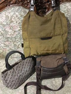Authentic All Japan Sling, Shoulder And Handbag Set Of 3 For The Price Of One