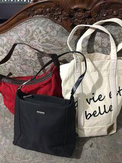 Authentic Italy And Japan Bags Bundle Set Of 3 For The Price Of One
