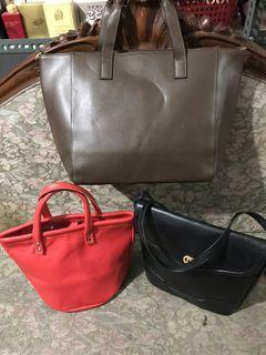 Authentic Italy Sling Bag And Japan Hand Bags Set Of 3 For The Price Of One