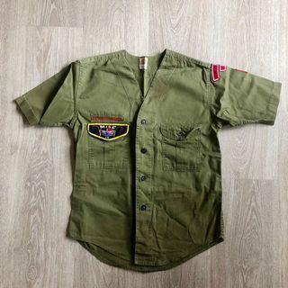 Boy Scouts Navy Green Top