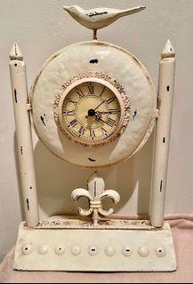 Gorgeous cream colour distressed Bird clock