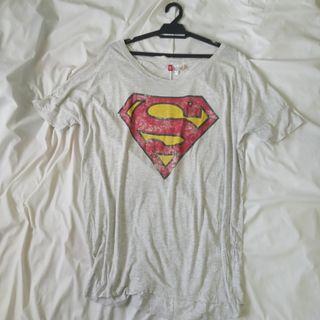 H&M DIVIDED Superman Oversize T-shirt