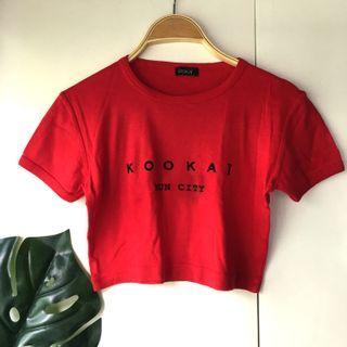 Kookai Red Crop Top