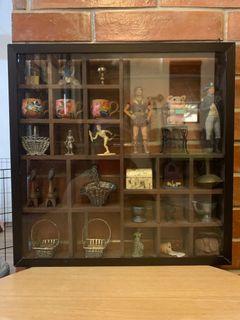 Miniature Wall decors - random pieces - glass display