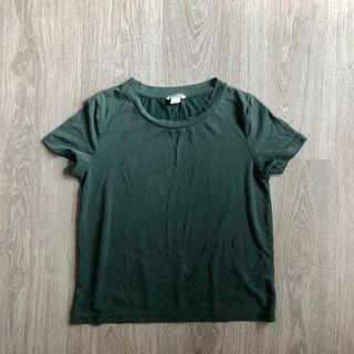 Monki Navy Green T-Shirt