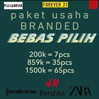 PAKET USAHA H&M PULL&BEAR STRADIVARIUS ZARA GUESS COTTON ON FOREVER21 UNIQLO , DLL